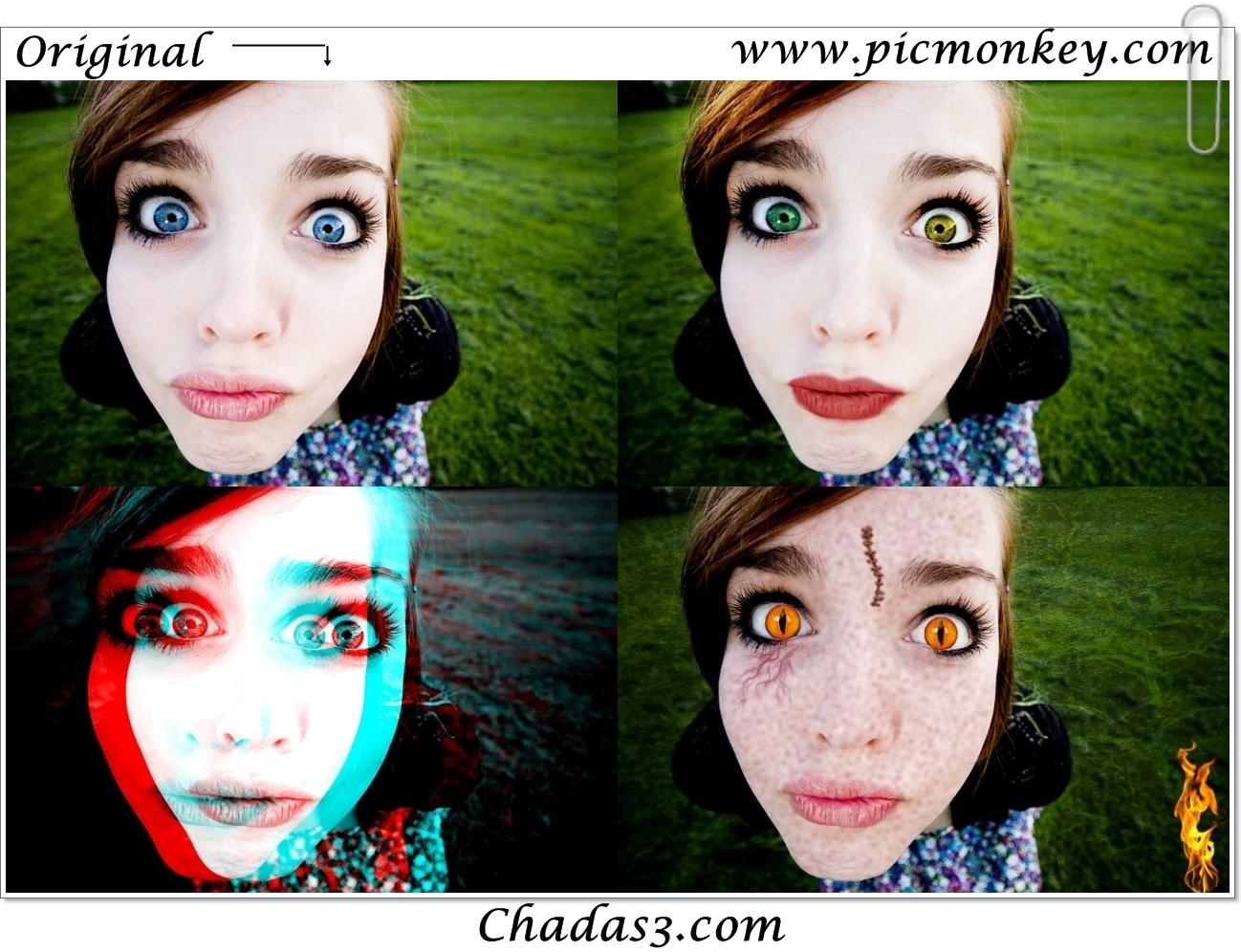Editor de fotos para efeitos 70